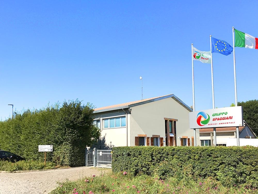 sede di correggio del Gruppo Spaggiari, servizi ambientali